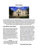 Info Reading Text - Westward Expansion: The Alamo (no prep/sub plans)