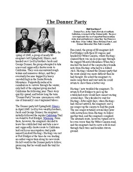 Info Reading Text - Westward Expansion: The Donner Party (