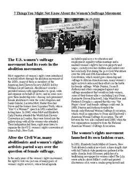 Info Reading Text-Women's History Month: 7 Things You Didn't Know About Suffrage