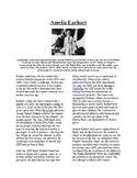 Info Reading Text - Women's History Month: Amelia Earhart (no prep/sub plan)