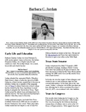 Info Read Text - Black/Women's History Month: Barbara Jordan (no prep/sub plans)
