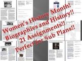 Info Reading Text - Women's History Month Bundle (no prep/sub plan)