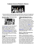 Info Reading Text - Women's History Month: Firsts in Women's History (no prep)