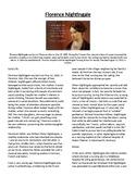 Info Read Text/Vocab- Women's History Month: Florence Nightingale (no prep/sub)