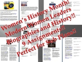 Info Reading Text - Women's History Month: Modern Women's Leaders (no prep/sub)