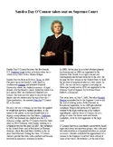 Info Reading Text - Women's History Month: Sandra Day O'Connor (no prep)