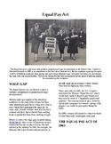 Info Reading Text - Women's History Month: The Equal Pay Act (no prep/sub plans)
