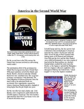 Info Reading Text - World War II: America in the Second World War (no prep)