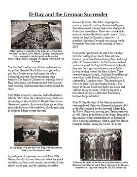 Info Reading Text - World War II: D-Day and German Surrender (no prep/sub)