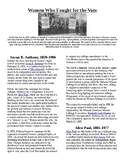 Info Read Text and Vocab - Women's History Month: Women Who Fought for the Vote