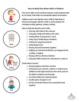 Info Sheet - How to build fine motor skills