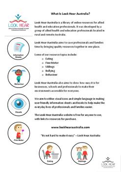 Info Sheet - What is Look Hear Australia