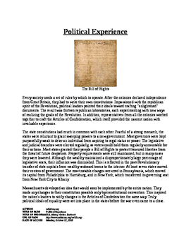 Info Text - American Society after Revolution: Political Experience (No Prep)