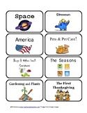 Info Text Book Bin Labels