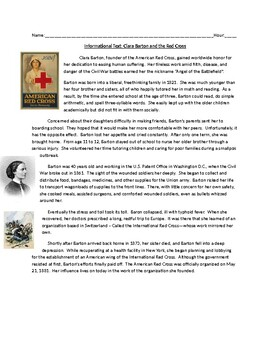 Info. Text: Clara Barton and the American Red Cross