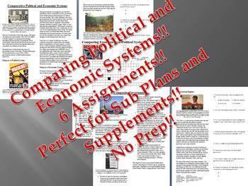 Info Text - Comparative Economic and Political Systems Bundle (No Prep Sub Plan)