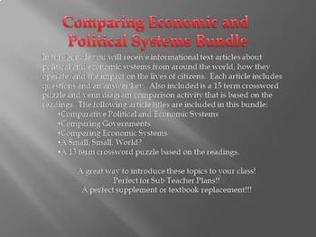 Info Text - Comparative Economic and Political Systems Bundle (No Prep Sub Plan)