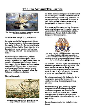 Info Text - Events Leading to Independence: Tea Act and Tea Party (No Prep)