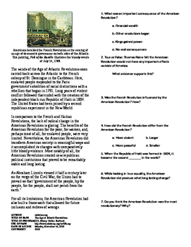 Info Text - What Does the Revolution Mean?: Age of Atlantic Revolutions (No Prep