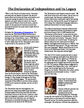 Info Text - What Does the Revolution Mean?: Legacy of the Declaration (No Prep)