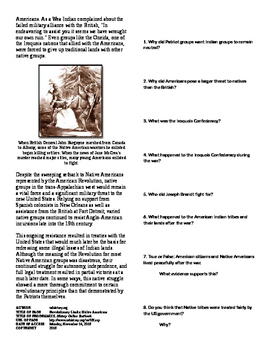 Info Text - What Does the Revolution Mean?: Native Americans (No Prep/sub)