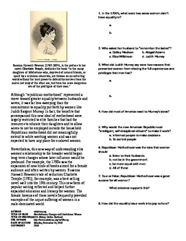 Info Text - What Does the Revolution Mean?: Women's Rights (No Prep)