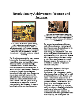 Info Text - What Does the Revolution Mean?: Yeoman and Artisans (No Prep)
