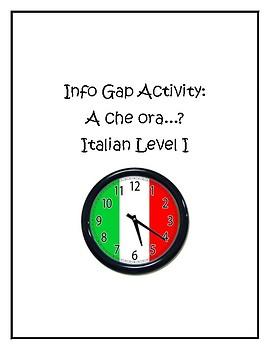 Info gap- A che ora