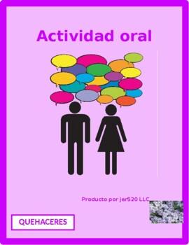 Quehaceres (Chores in Spanish) Info gap