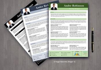 Info-graphic teacher resume template : Resume editable in word files