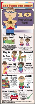 """Test-Taking Tips 10"""" X 30"""" InfoGraphic"""