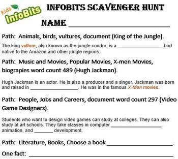 Infobits Activities Grades 3-5