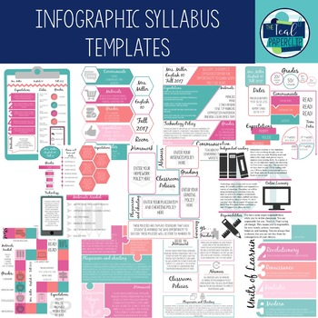 Infographic Creative Syllabus Templates by The Teal Paperclip | TpT