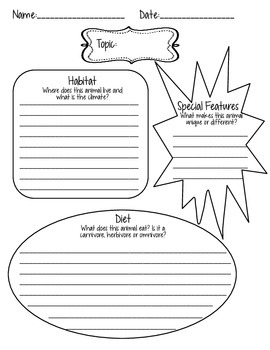 Infographic Graphic Organizer - Animal Report - Readygen Grade 4