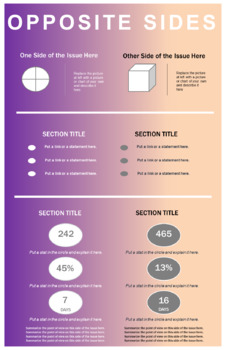 Critical Thinking Infographic Project: Opposite Sides of an Issue