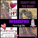 VALENTINE'S DAY ACTIVITY - BEAUTY AND THE BEAST INFOGRAPHIC