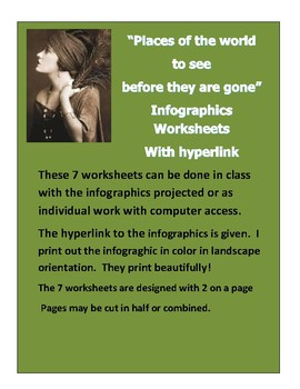 Infographic hyperlink 7 worksheets Places to see before they are gone!