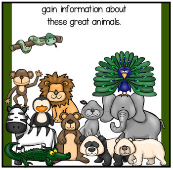 Information Writing about Zoo Animals