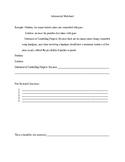 Infomercial Worksheet