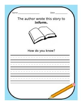 Inform: Author's Purpose