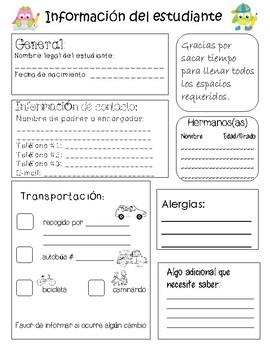 Informacion del estudiante