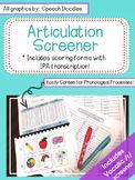Articulation Screener - Artic Screener - Informal Articula