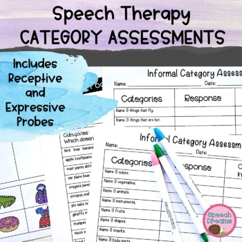 Informal Assessment of Categories * Category