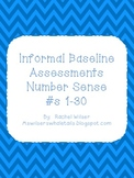 Informal Assessments, Numbers 1-30