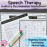 Auditory Discrimination and Minimal Pair Production Assessment {Phonemes/Sounds}