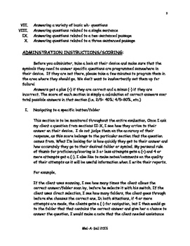 Informal Augmentative/Alternative Communication (AAC) Evaluation