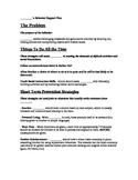 Informal Behavior Intervention Plan Template