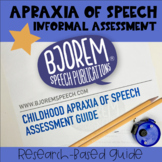 Informal Childhood Apraxia of Speech Assessment - by Bjore