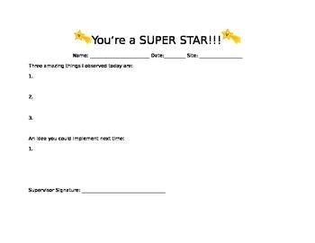 Informal Classroom Observation Form #3