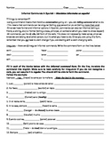 Informal Command Worksheet with Recipe